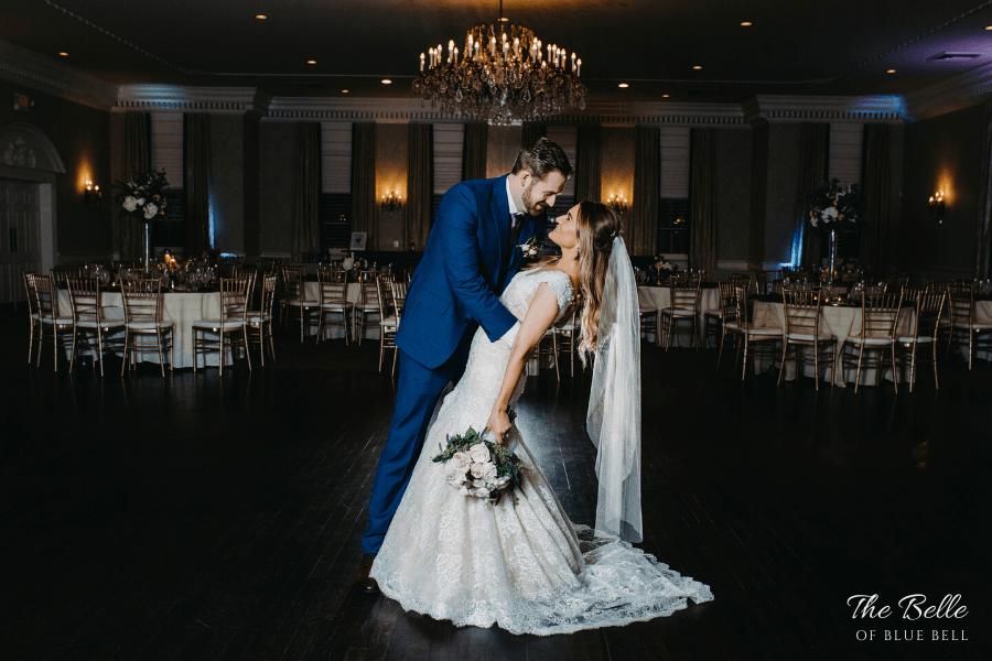 wedding reception belle of blue bell