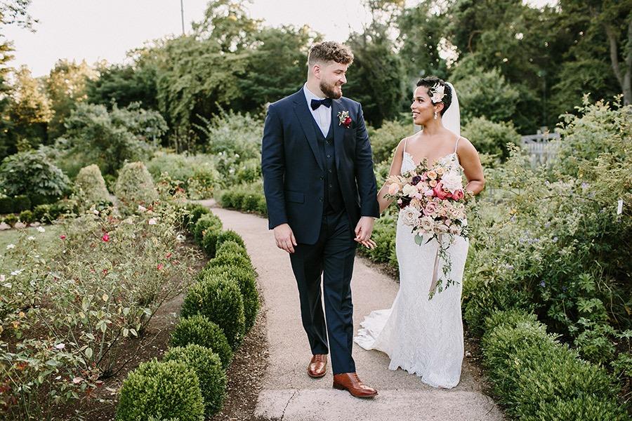 Bartram's Garden wedding with flowers