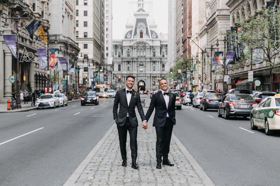 Center City wedding portrait