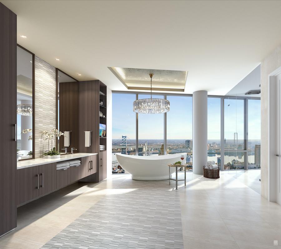 500 walnut penthouse master bathroom