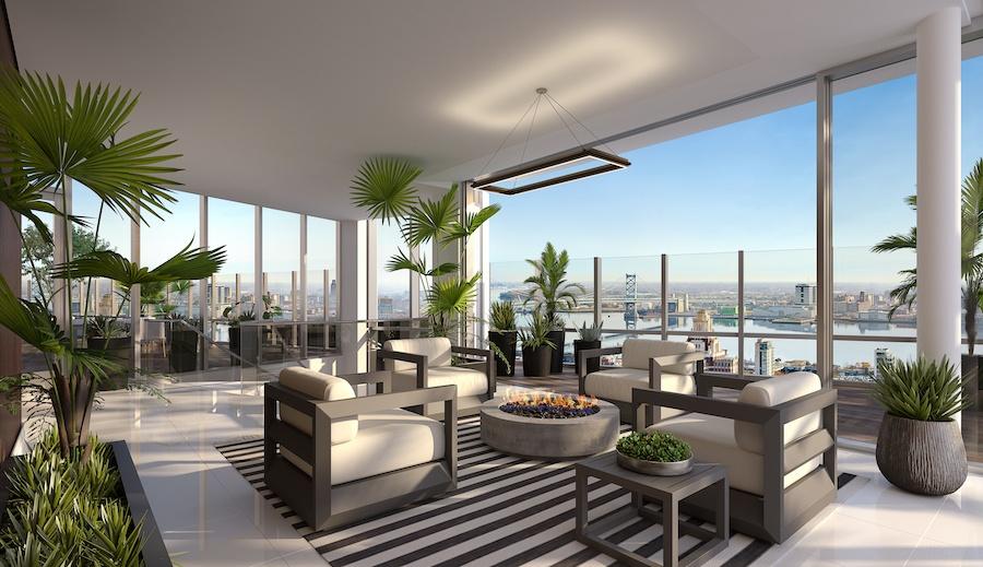500 walnut penthouse solarium
