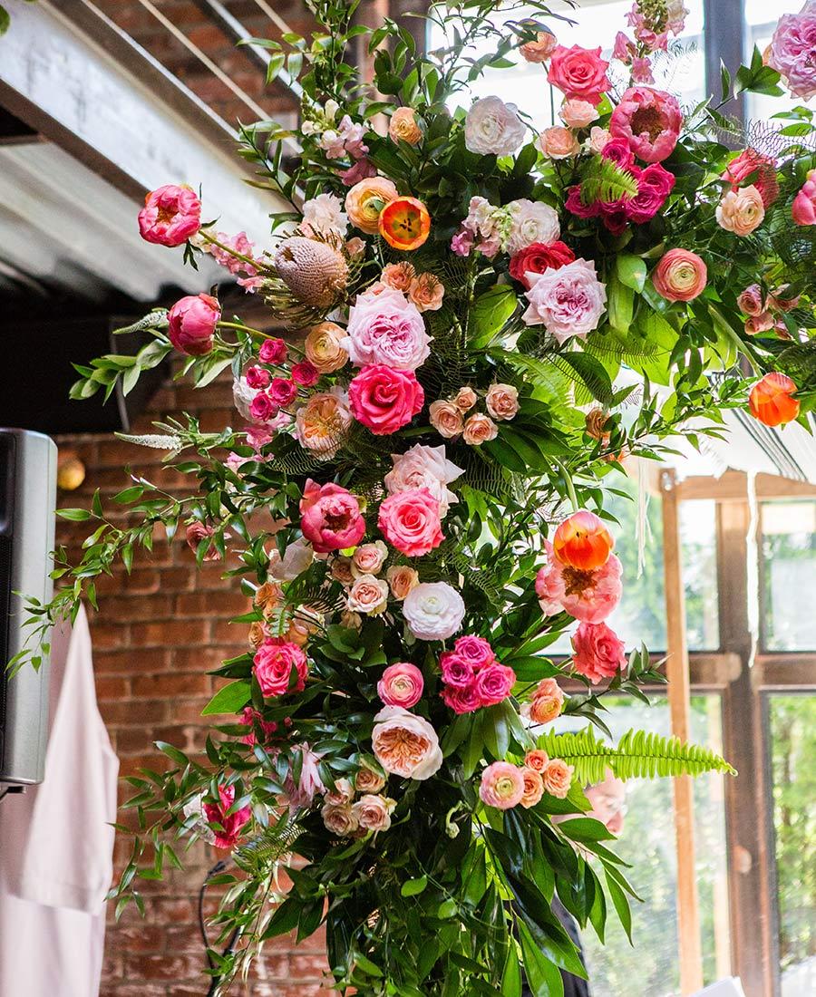 Floral arch wedding design