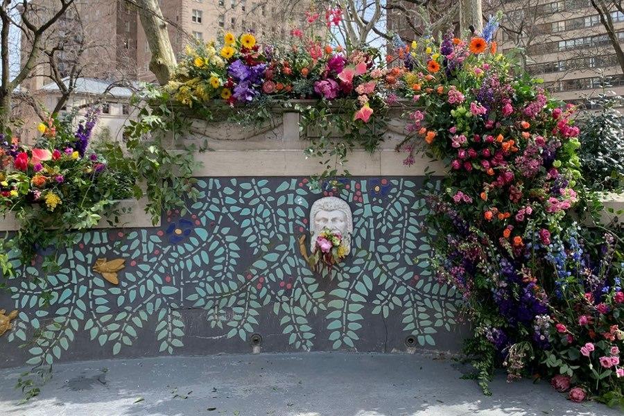 Rittenhouse Square flower bomb