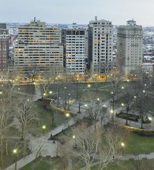 high-floor rittenhouse square condo view from condo