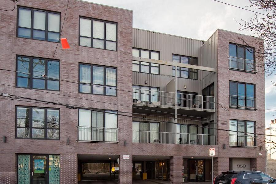 bi-level northern liberties condo building exterior