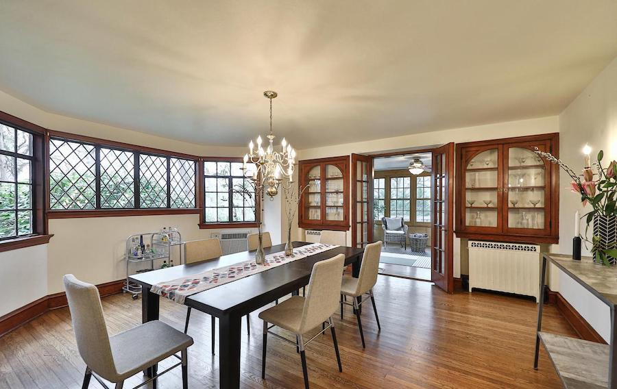 east falls tudor revival house for sale dining room