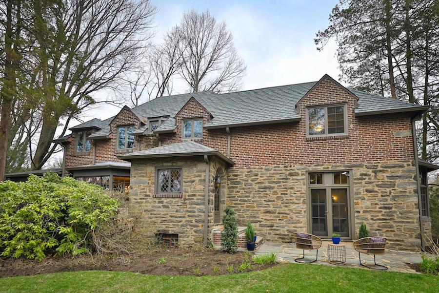 east falls tudor revival house for sale exterior front