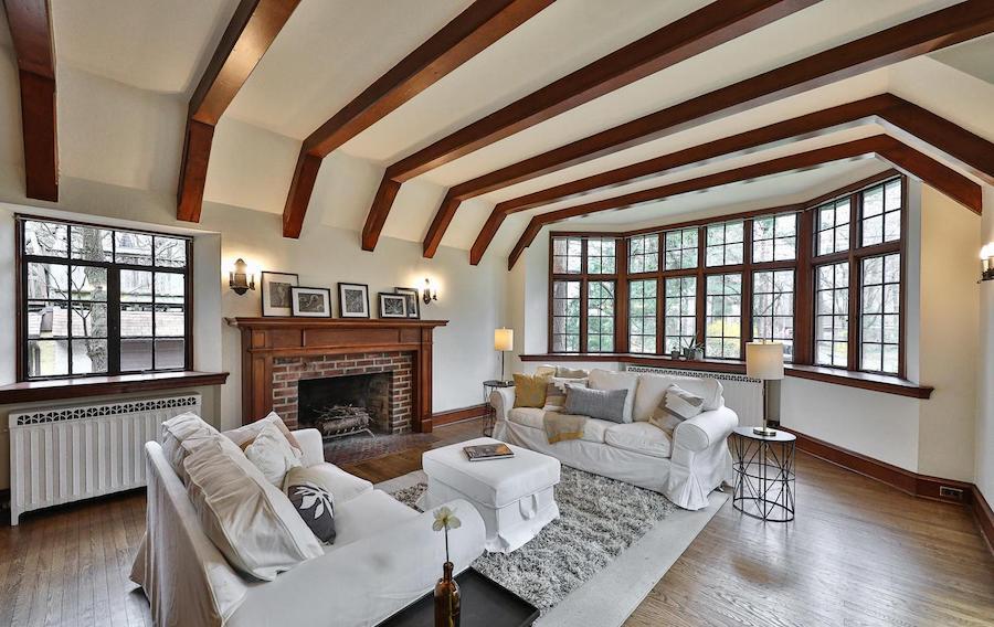east falls tudor revival house for sale living room