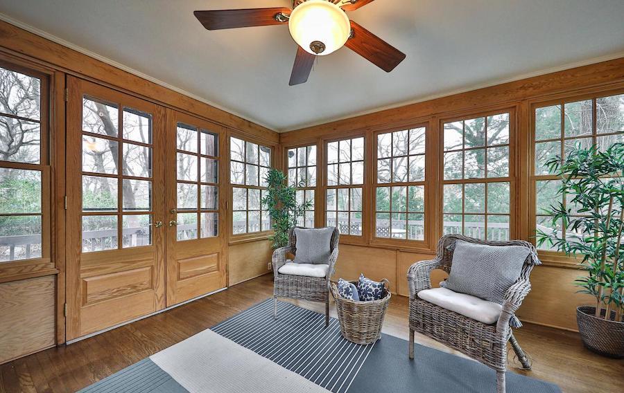 east falls tudor revival house for sale sunroom