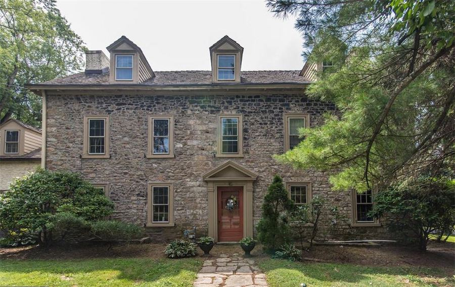 huntingdon valley colonial house for sale exterior-front