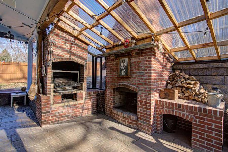 kennett square expanded farmhouse grill and fireplace