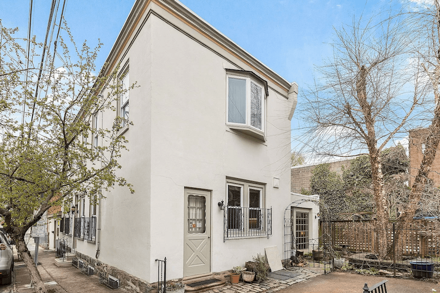 manayunk freestanding house for sale exterior side
