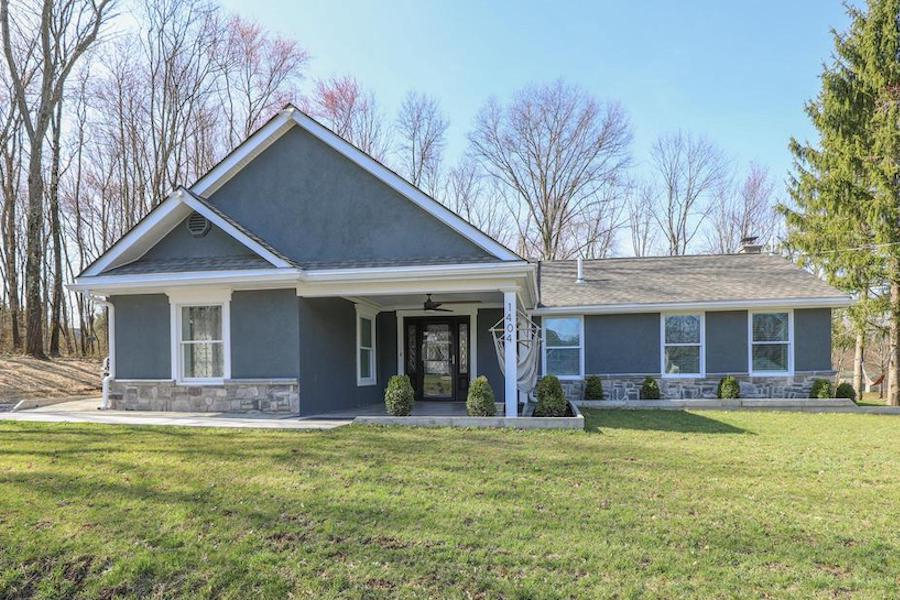 perkasie expanded ranch house for sale exterior front