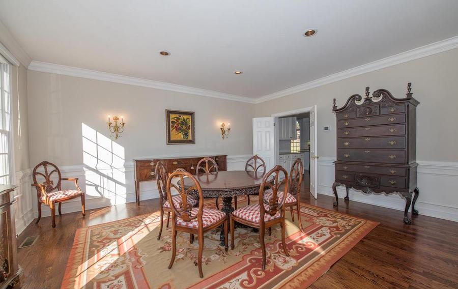 villanova neo-colonial house for sale dining room