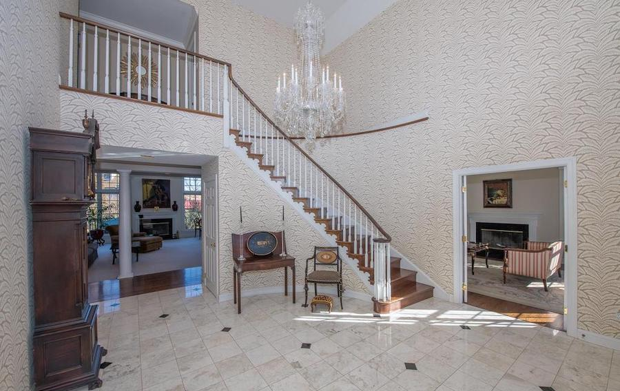 villanova neo-colonial house for sale foyer