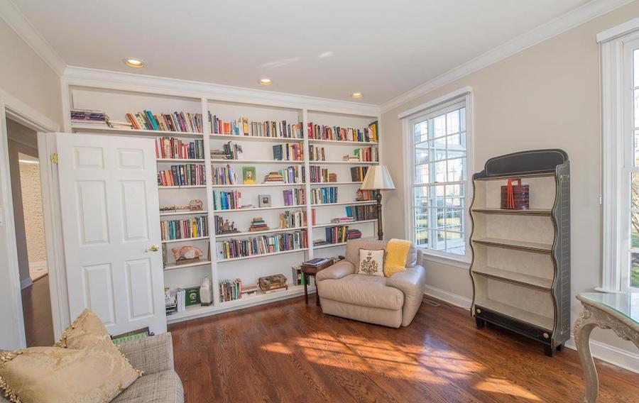 villanova neo-colonial house for sale library