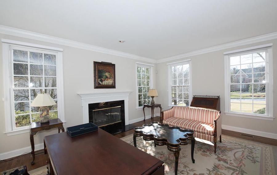 villanova neo-colonial house for sale living room