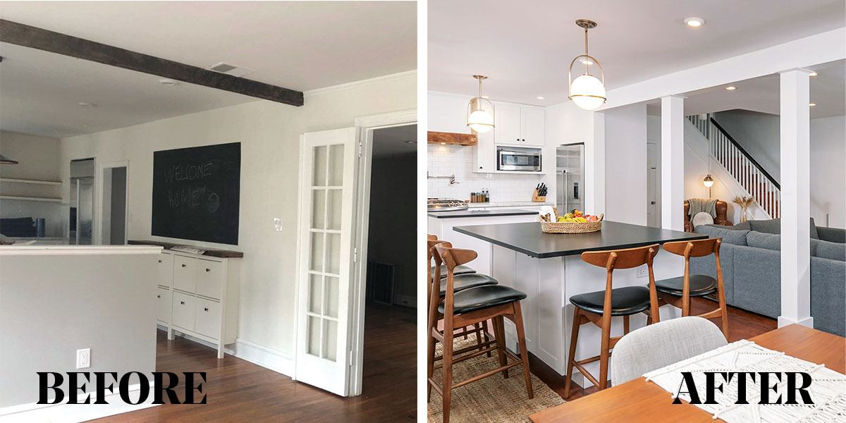 How This Young Family Got Their Dream Open Concept Kitchen