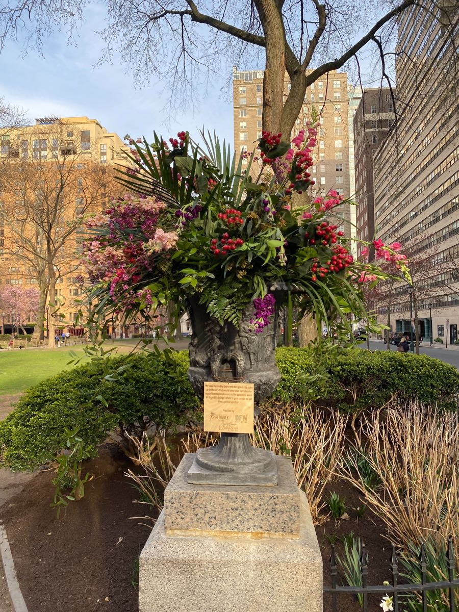 rittenhouse square floral bomb urn