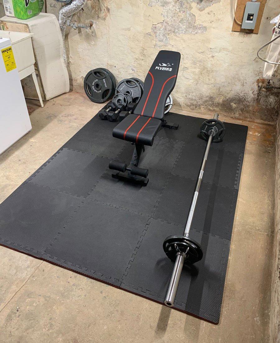 rowhouse basement gym