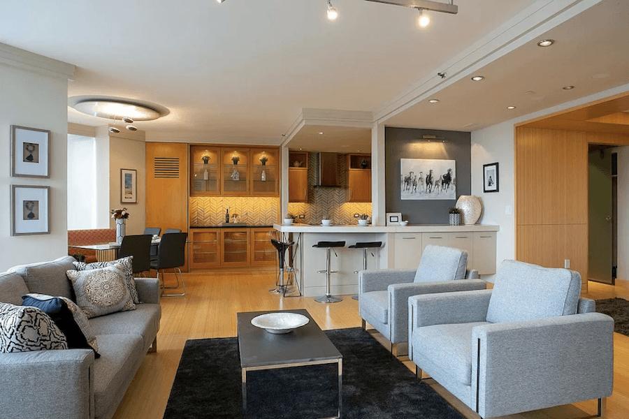 high-floor rittenhouse condo for sale main living area