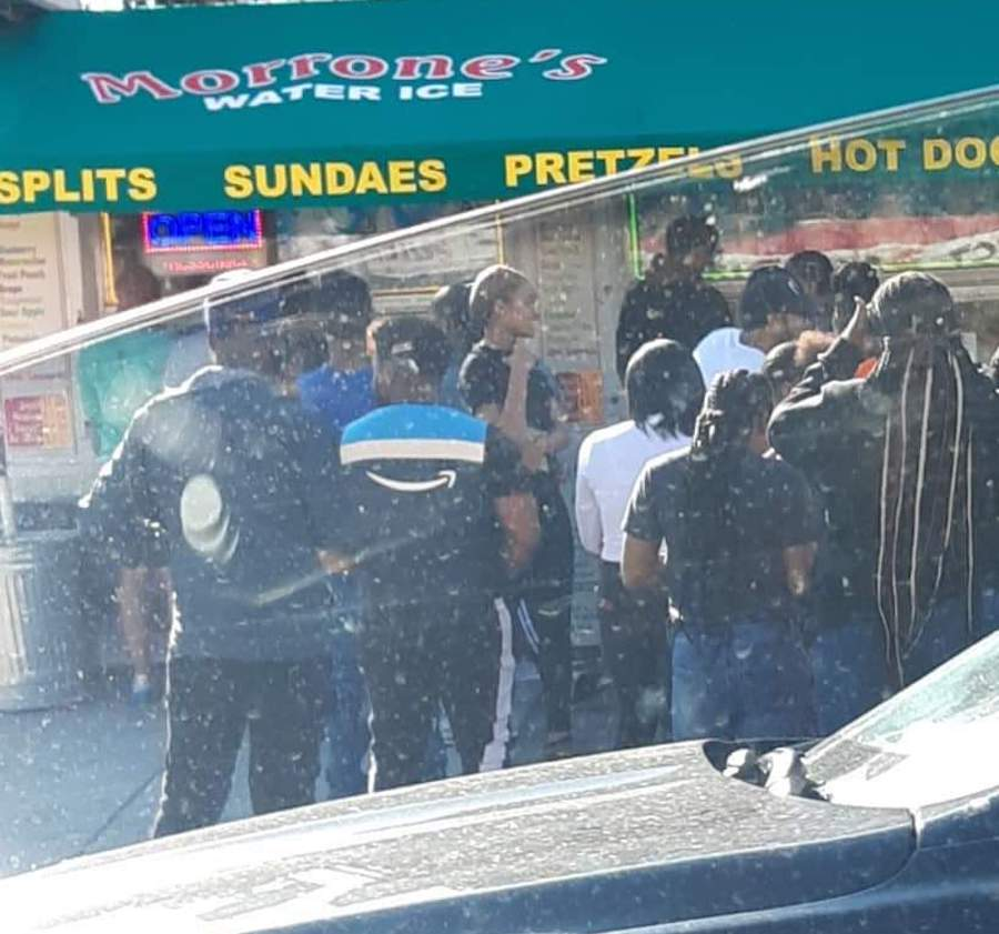 the line at a philadelphia water ice stand during the philly coronavirus crisis