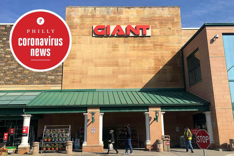 the giant grocery store in wynnewood outside of philadelphia during the coronavirus crisis