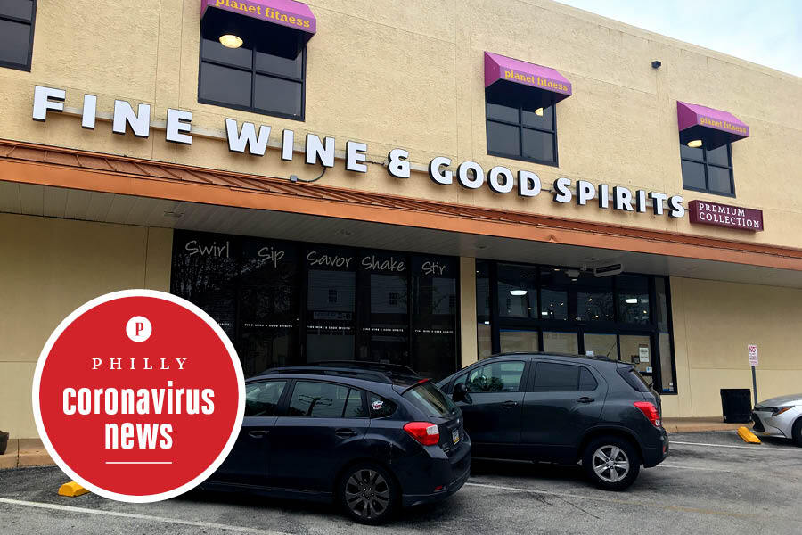ardmore wine and spirits shop, one of the pennsylvania wine and spirits stores that has reopened for curbside pickup only during the coronavirus crisis in the philadelphia area