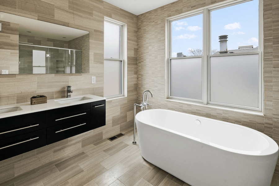 bella vista modern rowhouse for sale master bathroom