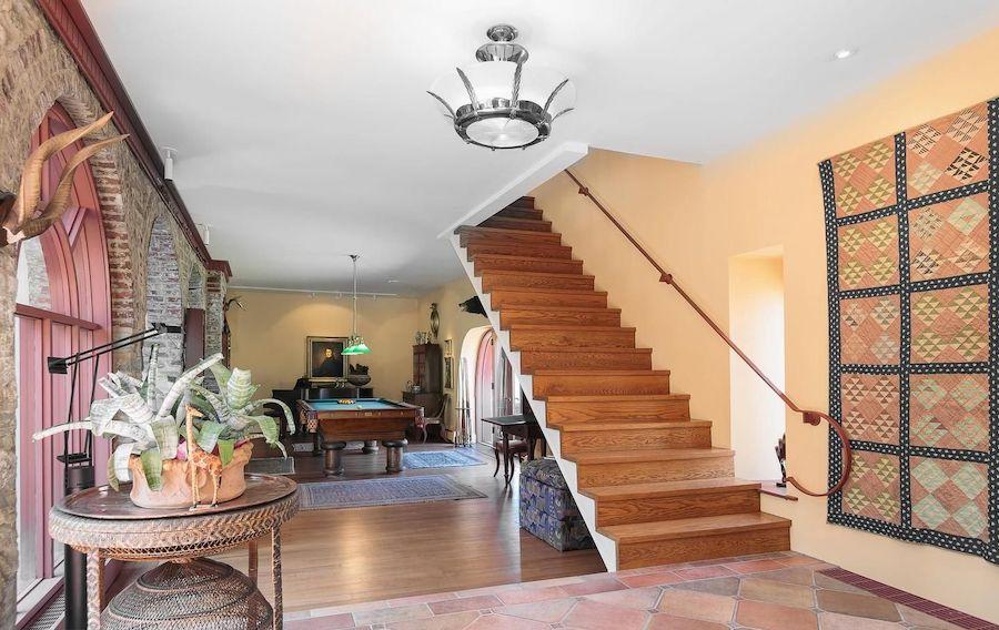 midcentury modern chestnut hill house for sale foyer
