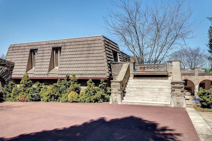 midcentury modern chestnut hill house for sale street elevation