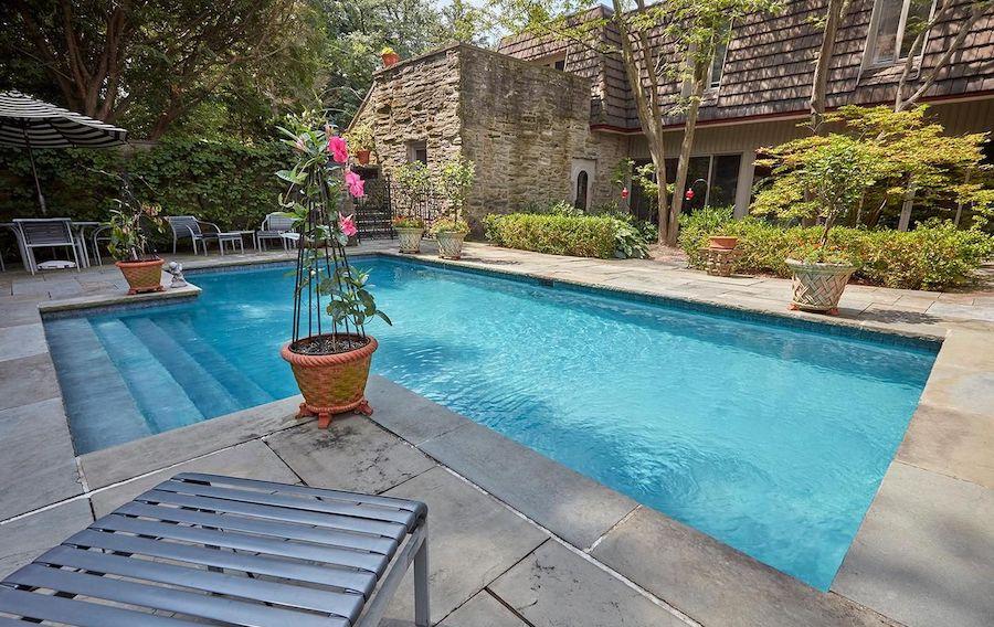 midcentury modern chestnut hill house for sale pool