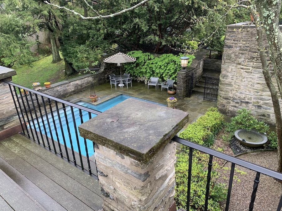 view of pool from public deck