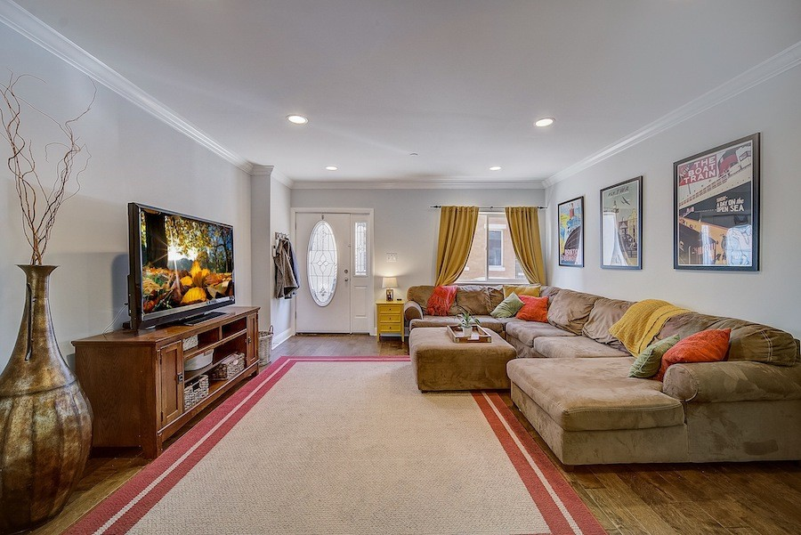 neotraditional fishtown house for sale living room