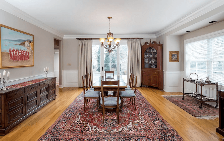 house for sale gladwyne neotraditional dining room