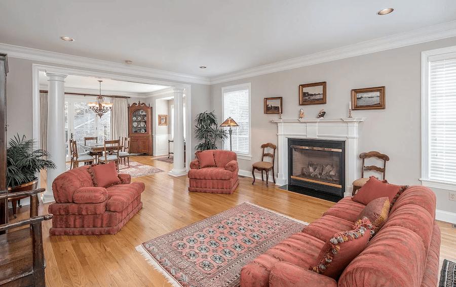 house for sale gladwyne neotraditional living room