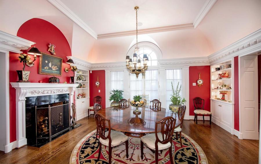 gladwyne georgian revival house for sale dining room