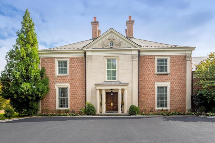 gladwyne georgian revival house for sale exterior front