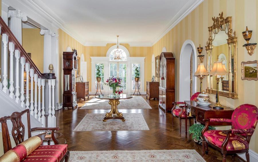 gladwyne georgian revival house for sale foyer