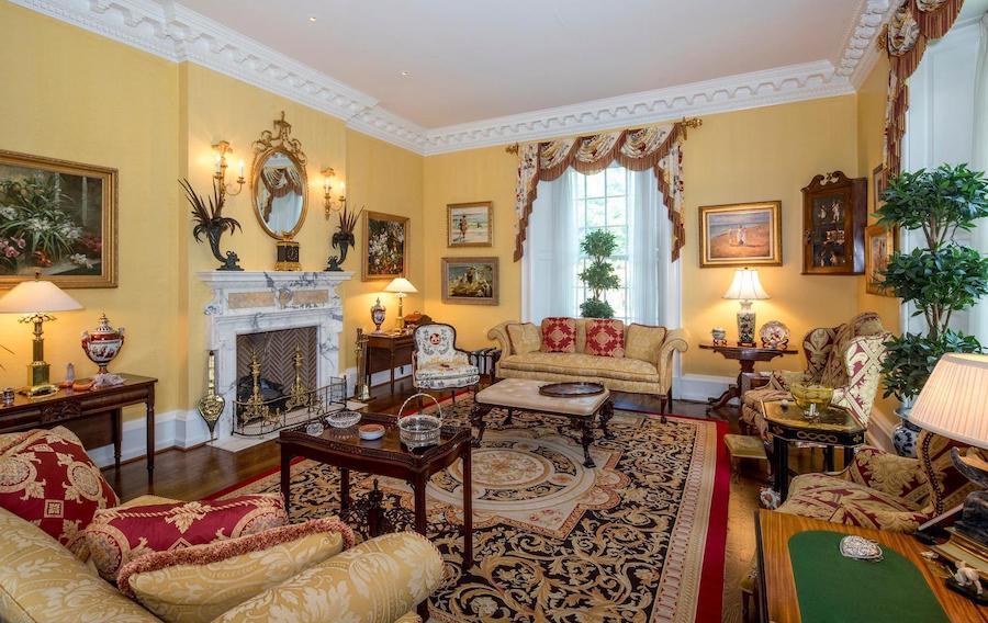 gladwyne georgian revival house for sale living room
