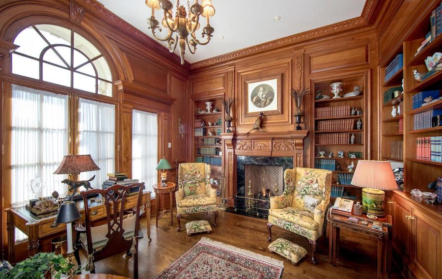 gladwyne georgian revival house for sale study