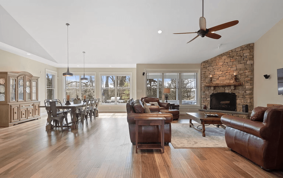 kennett square craftsman house for sale living and dining rooms