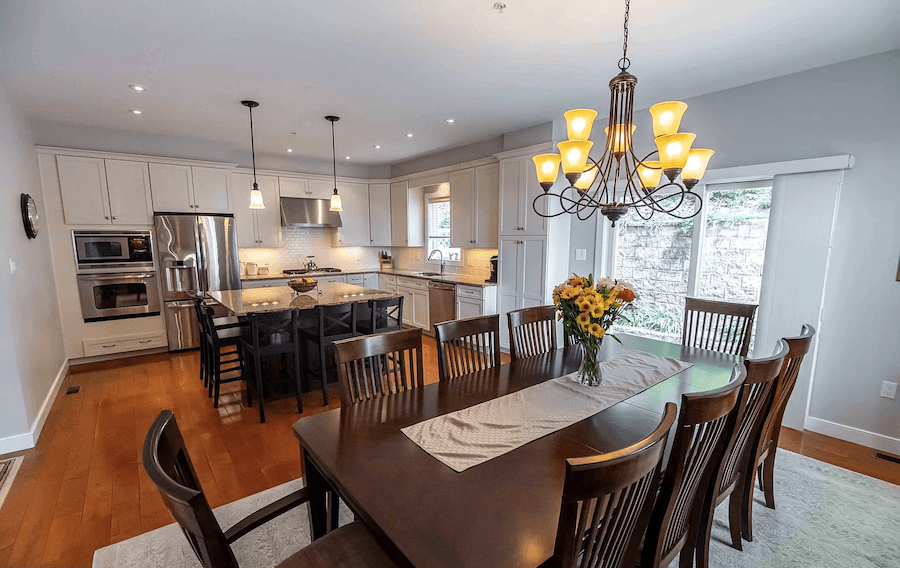 contemporary manayunk townhouse for sale dining room and kitchen