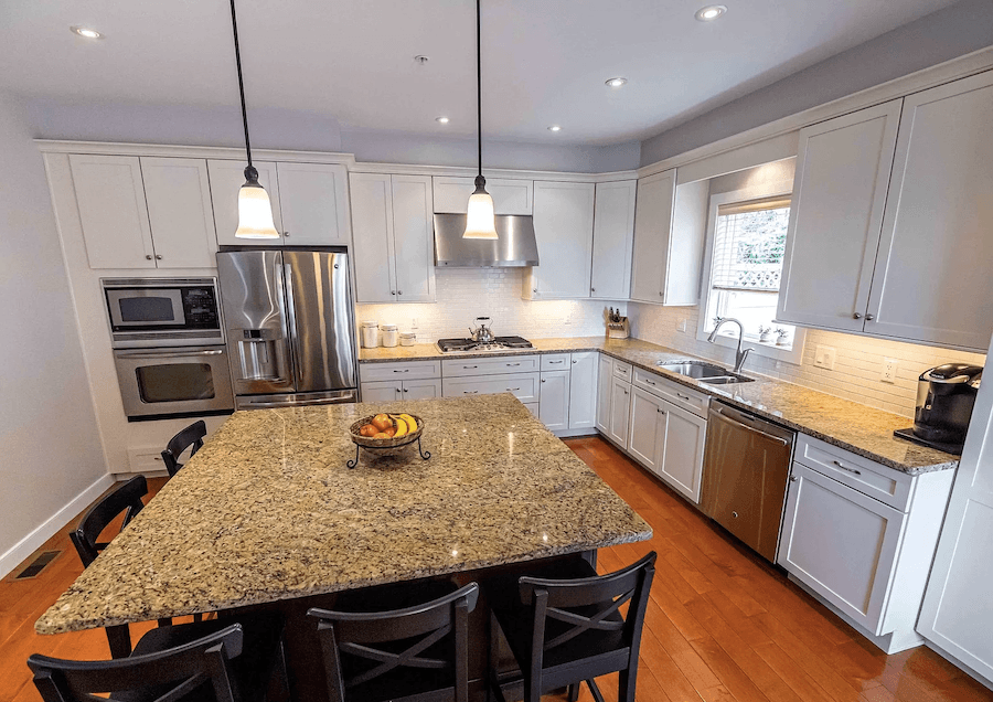 contemporary manayunk townhouse for sale kitchen