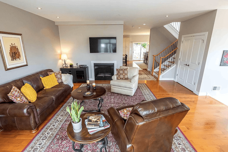 contemporary manayunk townhouse for sale living room