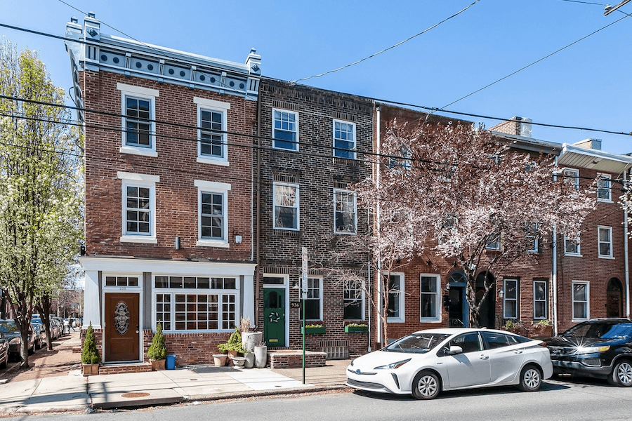 renovated queen village rowhouse for sale exterior front