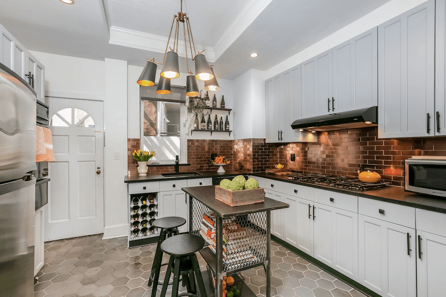 renovated queen village rowhouse for sale kitchen