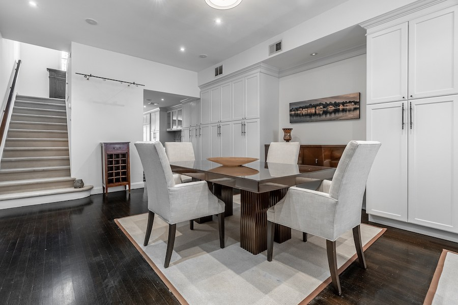 house for sale rittenhouse remodeled row dining room