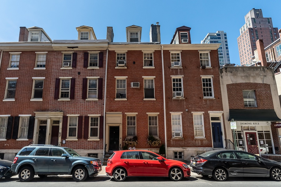 house for sale rittenhouse remodeled row exterior front