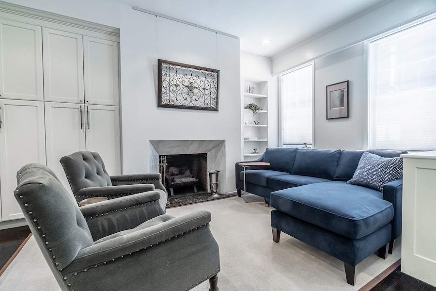 house for sale rittenhouse remodeled row living room